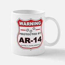 protected by ar14 shield Mug