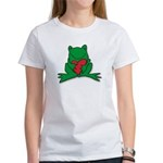 Frog Cartoon Heart Cute Animal Women's T-Shirt