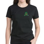 Frog Cartoon Heart Cute Animal Women's Dark T-Shir
