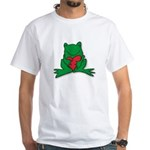 Frog Cartoon Heart Cute Animal White T-Shirt