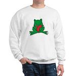 Frog Cartoon Heart Cute Animal Sweatshirt