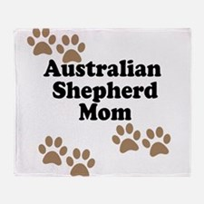 Australian Shepherd Mom Throw Blanket