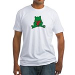 Frog Cartoon Heart Cute Animal Fitted T-Shirt