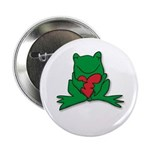 Frog Cartoon Heart Cute Animal Button