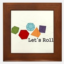 Let's Roll Framed Tile