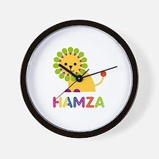 Hamza Loves Lions Wall Clock