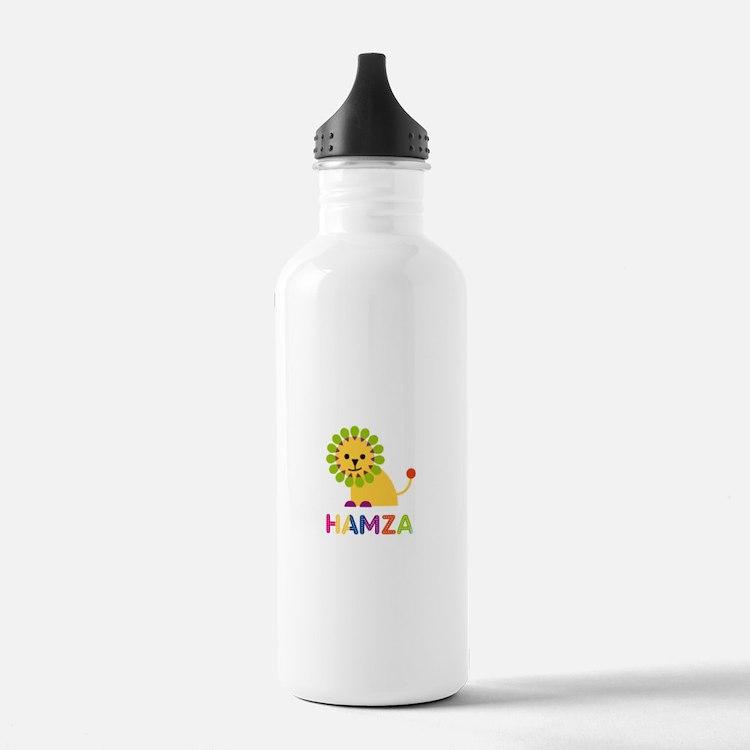 Hamza Loves Lions Water Bottle
