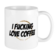 I love coffee Small Mugs