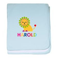 Harold Loves Lions baby blanket
