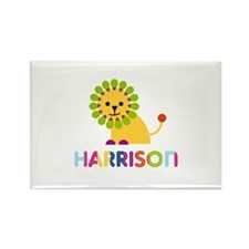 Harrison Loves Lions Rectangle Magnet