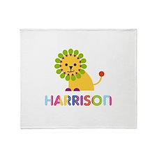 Harrison Loves Lions Throw Blanket