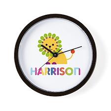 Harrison Loves Lions Wall Clock