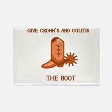 Give Crohn's and Colitis the boot Rectangle Magnet