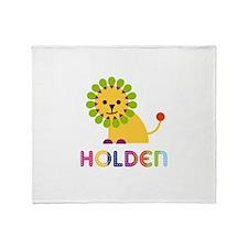 Holden Loves Lions Throw Blanket