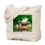 Frog Watercolor Painting Tote Bag