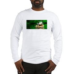 Frog Watercolor Painting Long Sleeve T-Shirt