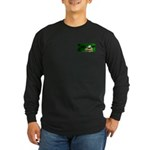 Frog Watercolor Painting Long Sleeve Dark T-Shirt
