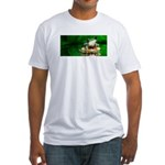 Frog Watercolor Painting Fitted T-Shirt