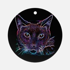 Glowing Cat Ornament (Round)