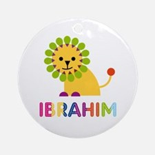 Ibrahim Loves Lions Ornament (Round)