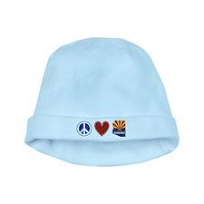 Peace Love Arizona baby hat