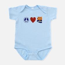 Peace Love Arizona Infant Bodysuit