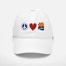 Peace Love Arizona Baseball Baseball Cap