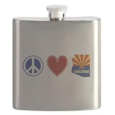 Peace Love Arizona Flask