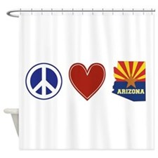 Peace Love Arizona Shower Curtain