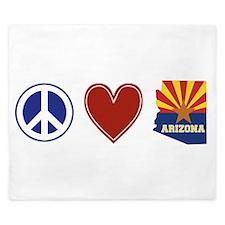 Peace Love Arizona King Duvet