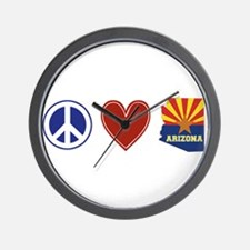 Peace Love Arizona Wall Clock