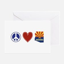 Peace Love Arizona Greeting Card