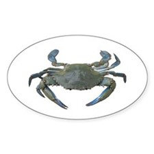 Chesapeake Bay Blue Crabs Rectangle Decal