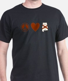 Peace Love Alabama T-Shirt