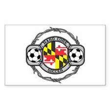 Maryland Soccer Rectangle Decal