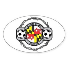 Maryland Soccer Oval Decal