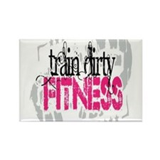 Train Dirty Fitness Rectangle Magnet