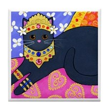 Gray CAT From Bali ART Tile