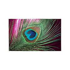 Magenta Peacock 3'x5' Area Rug