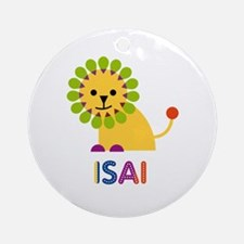 Isai Loves Lions Ornament (Round)
