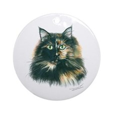 Tortoiseshell Cat Ornament (Round)