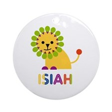 Isiah Loves Lions Ornament (Round)