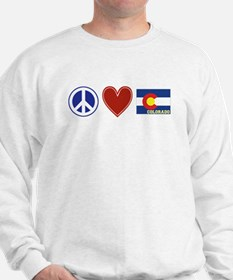 Peace Love Colorado Sweatshirt