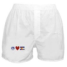 Peace Love Colorado Boxer Shorts