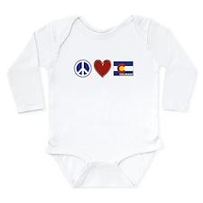 Peace Love Colorado Long Sleeve Infant Bodysuit