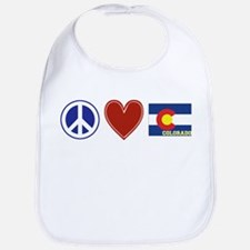 Peace Love Colorado Bib