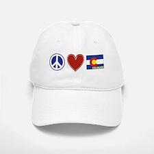 Peace Love Colorado Baseball Baseball Cap