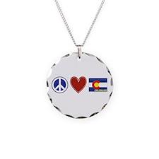 Peace Love Colorado Necklace