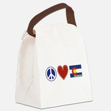 Peace Love Colorado Canvas Lunch Bag