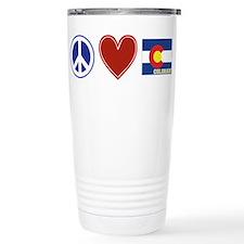Peace Love Colorado Travel Mug